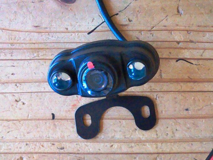 ドライブレコーダーのリアカメラ