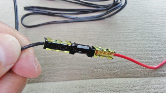 配線コネクターを使って配線を接続