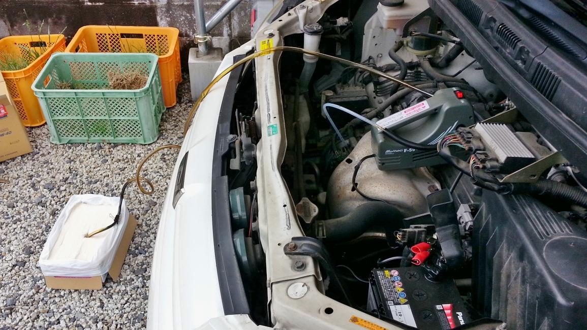 オイルチェンジャーでエンジンオイルを上抜き交換