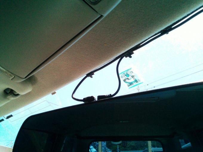 ドライブレコーダーの配線取り付け後