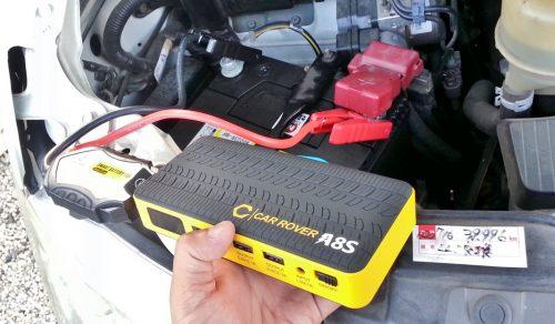 ジャンプスターターでバッテリー上がりエンジンを指導