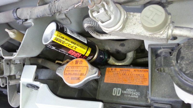 エアコンイノベーターで車の冷媒ガス補充