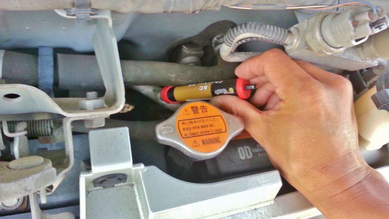 カーエアコンの冷媒ガス量を自分で確認する方法