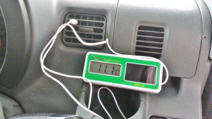 冷媒ガス補充後の吹出口温度