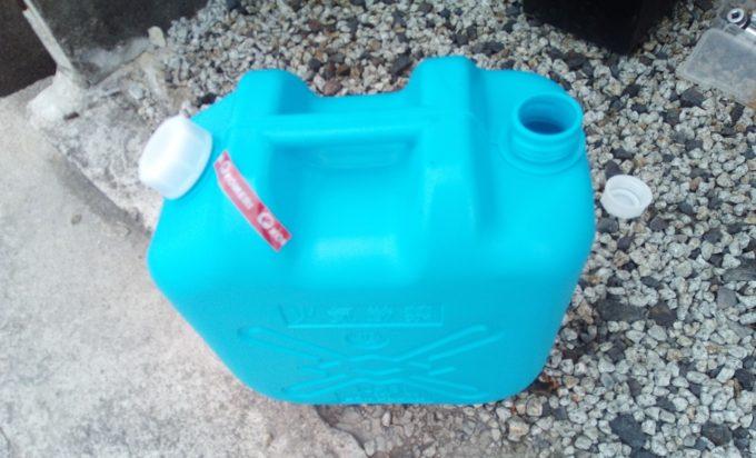 LLCの廃液を保管するための灯油タンク