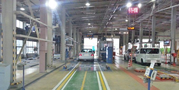 継続車検の検査ラインは2種類ある