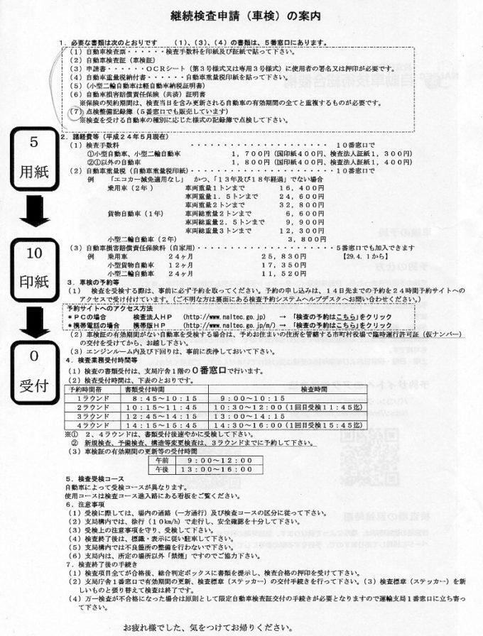 継続検査申請(車検)の案内