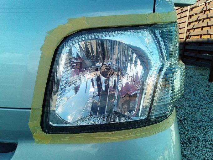 ブルーマジックのヘッドライトクリーナー施工後