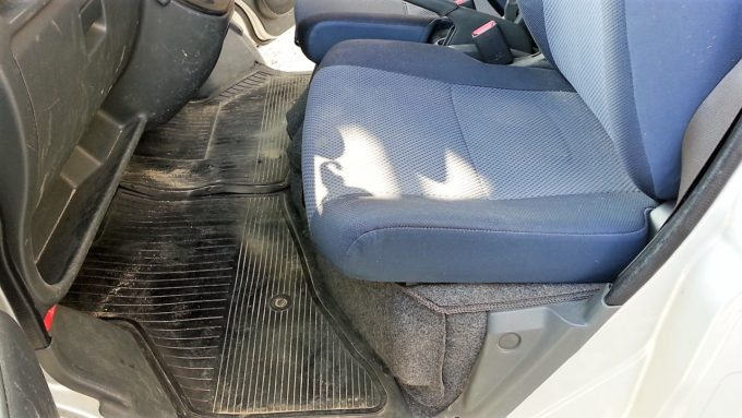 ハイゼットの助手席のシート
