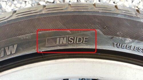 タイヤのインサイド表示