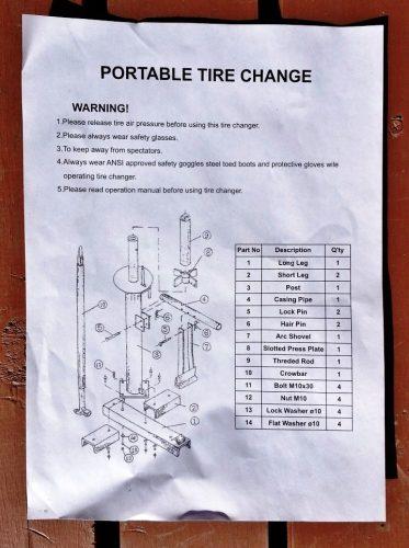 説明書(英語)の通りに組み立てていけば、簡単に作れる